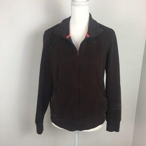 Athletic Works, brown zip up jacket.